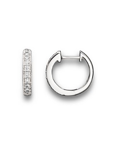 Diamond Bezel Set Huggie Hoop Earrings in 14K White Gold, .30 ct. t.w. - 100% Exclusive - Bloomingdale's_0