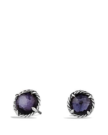 David Yurman - Châtelaine Earrings with Black Orchid