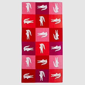 Lacoste Crocodomino Beach Towel