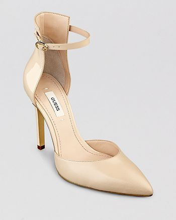 GUESS - Pointed Toe D'Orsay Pumps - Abaih2 High-Heel