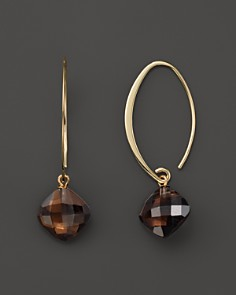 14k Yellow Gold Simple Sweep Earrings With Smoky Quartz 100 Exclusive Bloomingdale