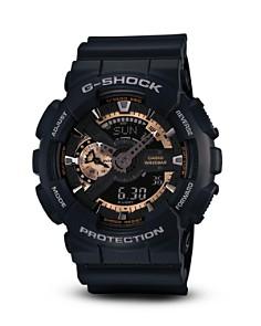 G-Shock Black & Rose Gold Tone Watch, 55mm - Bloomingdale's_0