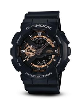 G-Shock - Black & Rose Gold Tone Watch, 55mm