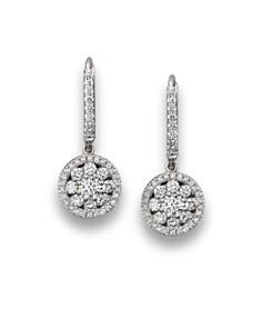 Roberto Coin - Roberto Coin 18K White Gold Diamond Drop Earrings