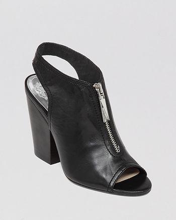 VINCE CAMUTO - Open Toe Booties - Mozza Slingback High-Heel