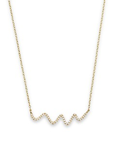 """Meira T 18K Yellow Gold Diamond Squiggle Necklace, 16"""" - Bloomingdale's_0"""