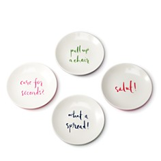 kate spade new york - kate spade new york Melamine Tidbit Plate Set, Sayings