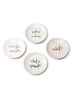 kate spade new york - kate spade new york Melamine Tidbit Plate Set, Sayings
