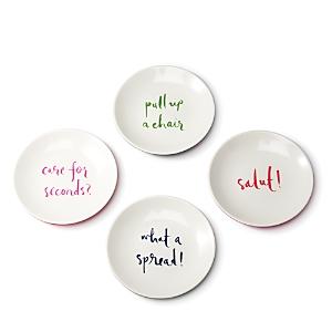 kate spade new york Melamine Tidbit Plate Set, Sayings