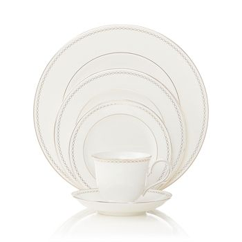 "Lenox - ""Pearl Platinum"" 5 Piece Place Setting"