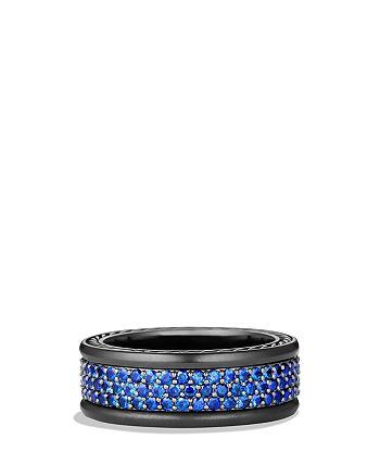 David Yurman - Streamline Three-Row Band Ring with Sapphires