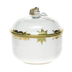 Herend - Princess Victoria Green Covered Sugar Bowl