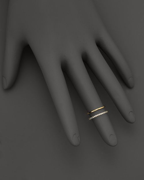 KC Designs - Double Row Midi Ring in 14K Yellow Gold, .15 ct. t.w.