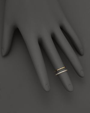 Kc Designs Double Row Midi Ring in 14K Yellow Gold