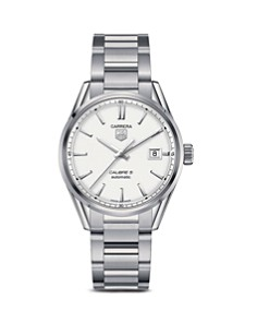 TAG Heuer Carrera Calibre 5 Stainless Steel and Silver Dial Watch, 39mm - Bloomingdale's_0