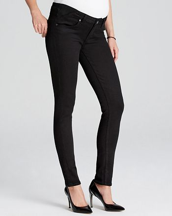 3eb7bd746b609 PAIGE Maternity Jeans - Verdugo Ultra Skinny in Black Shadow ...
