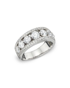 Diamond Pave Channel Set Band in 14K White Gold, 2.0 ct. t.w. - 100% Exclusive