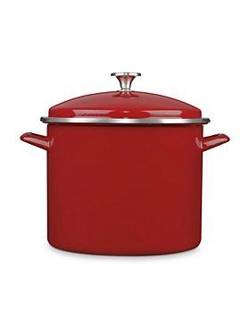 Cuisinart - 12-Quart Enameled Stainless Steel Stock Pot