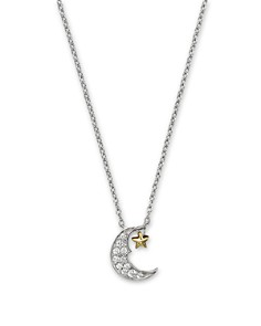 Diamond Moon and Star Pendant Necklace in 14K White and Yellow Gold, .08 ct. t.w. - 100% Exclusive - Bloomingdale's_0