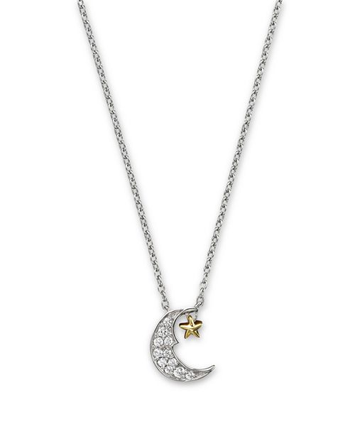 Bloomingdales diamond moon and star pendant necklace in 14k white bloomingdales diamond moon and star pendant necklace in 14k white and yellow gold aloadofball Image collections