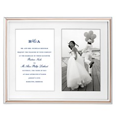 kate spade new york Rosy Glow Double Invitation Frame - Bloomingdale's Registry_0