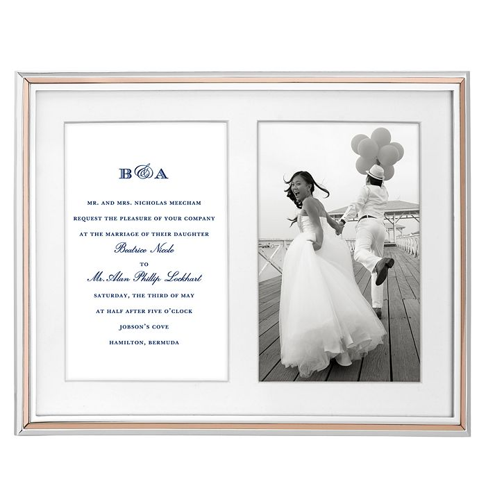 kate spade new york - Rosy Glow Double Invitation Frame