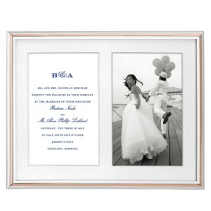 kate spade new york Rosy Glow Double Invitation Frame