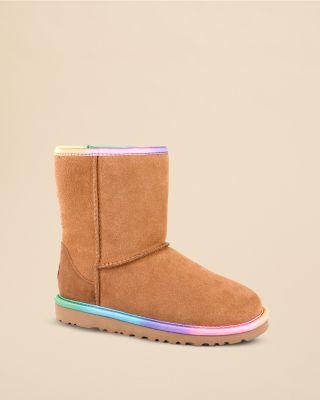 Girls' Classic Short Rainbow Boots