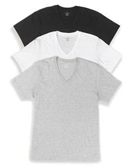 Calvin Klein - Cotton Classics V-Neck Tees, Pack of 3