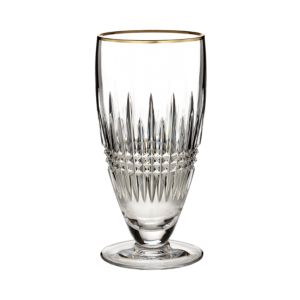 Waterford Lismore Diamond Gold Iced Beverage Glass