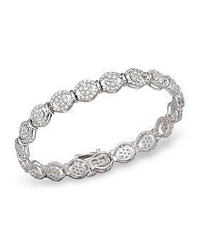 Bloomingdale's - Diamond Pavé Bracelet in 14K White Gold, 4.0 ct. t.w. - 100% Exclusive