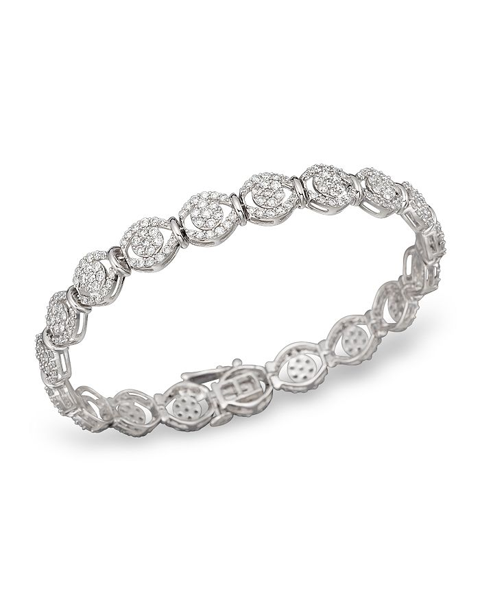 Bloomingdale's - Diamond Pavé Bracelet in 14K White Gold, 4.0 ct. t.w. - 100% Exclusive
