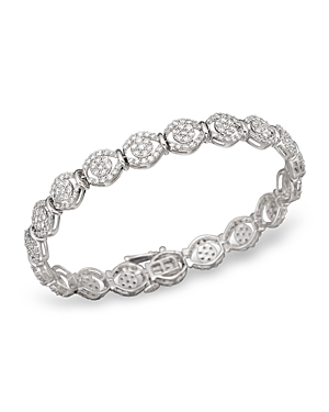 Diamond Pave Bracelet in 14K White Gold, 4.0 ct. t.w. - 100% Exclusive