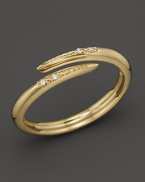 Mizuki 14K Yellow Gold Stackable Icicle Wrap Diamond Ring
