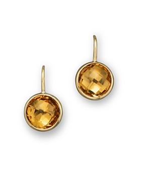 Bloomingdale S Citrine Small Drop Earrings In 14k Yellow Gold 100 Exclusive
