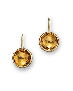 Citrine Small Drop Earrings in 14K Yellow Gold - 100% Exclusive