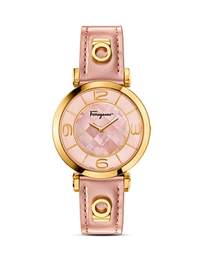 Salvatore Ferragamo Gancino Deco Gold Ion Plated Stainless Steel Watch, 39mm