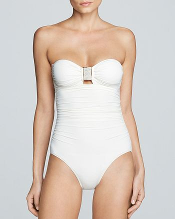 Carmen Marc Valvo - Exotic Illusion Bandeau Maillot One Piece Swimsuit