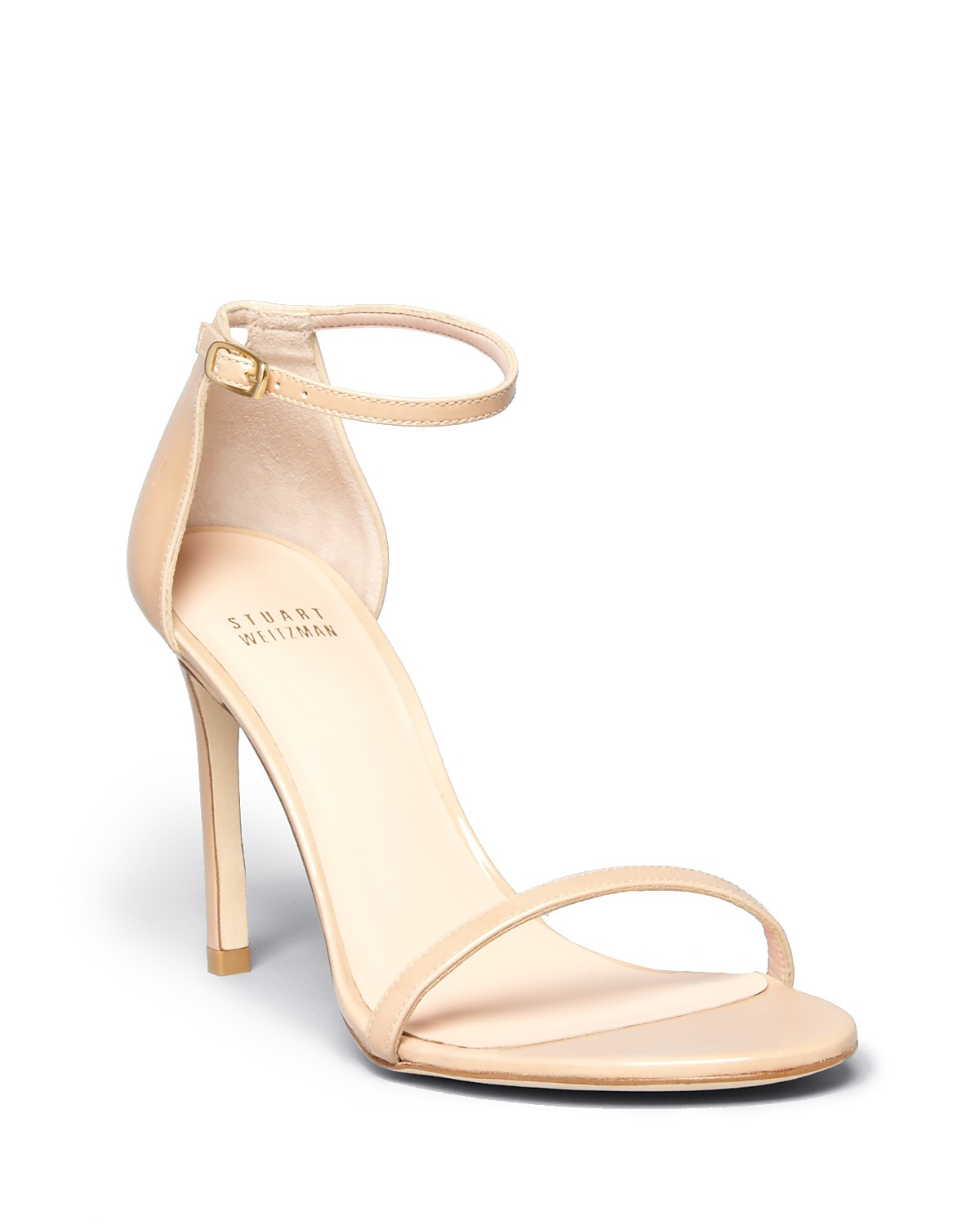 Stuart Weitzman Women's Nudistsong Patent Leather High Heel Sandals | Bloomingdale's