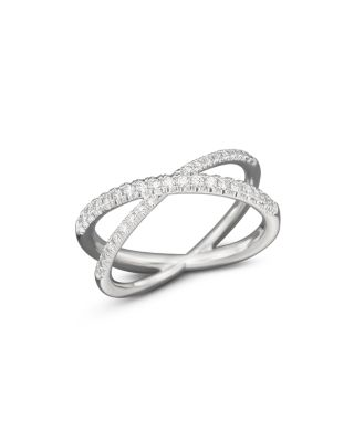 ROBERTO COIN 18K White Gold Diamond Crossover X Ring, .28 Ct. T.W.