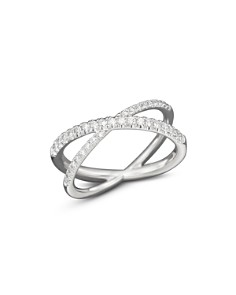 "Roberto Coin - 18K White Gold Diamond Crossover ""X"" Ring, .28 ct. t.w."