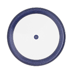 Royal Limoges Blue Star Round Deep Platter