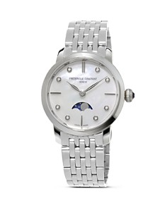 Frederique Constant Slimline Moonphase Stainless Steel Watch, 30mm - Bloomingdale's_0