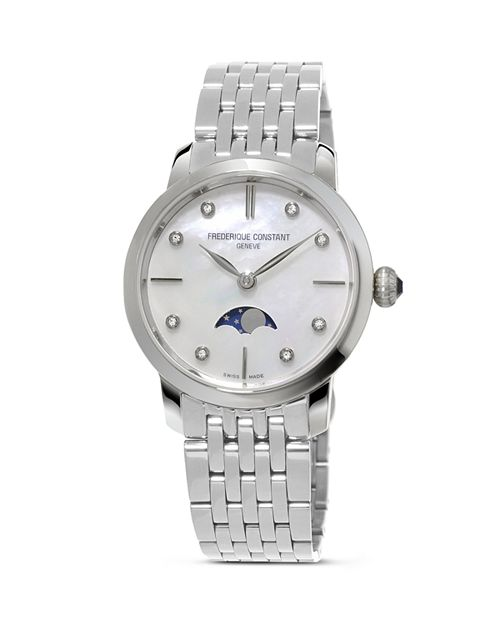 Frederique Constant - Slimline Moonphase Stainless Steel Watch, 30mm