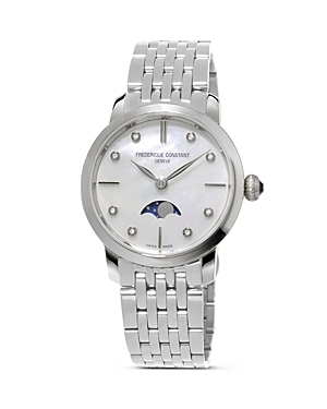 Frederique Constant Slimline Moonphase Stainless Steel Watch