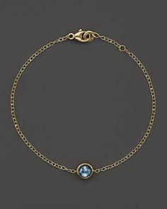 IPPOLITA - 18K Gold Mini-Lollipop Bracelet in London Blue Topaz