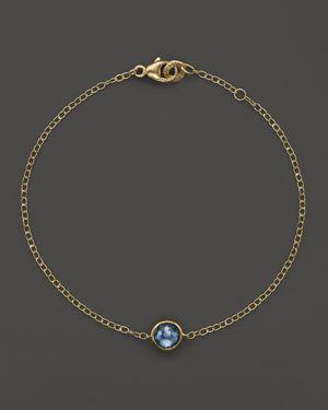 Ippolita 18K Gold Mini-Lollipop Bracelet in London Blue Topaz