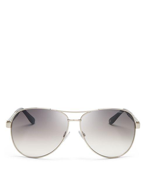 Jimmy Choo - Women's Lexie Brow Bar Aviator Sunglasses, 61mm