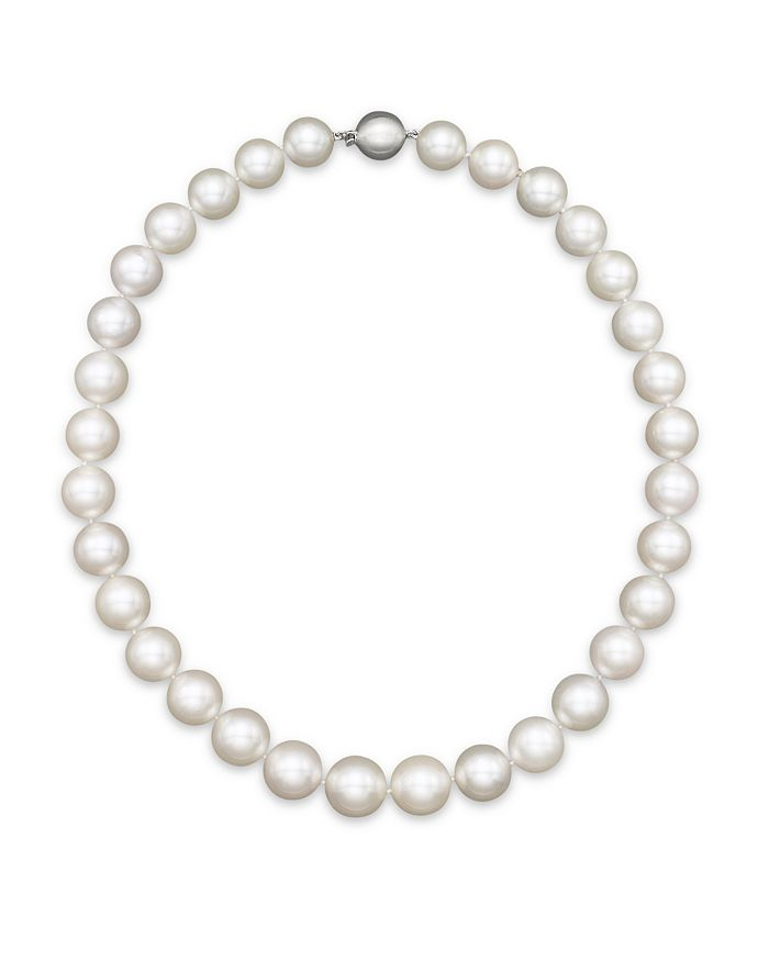"""Bloomingdale's - White South Sea Cultured Pearl Necklace in 14K White Gold, 18""""- 100% Exclusive"""