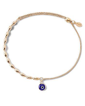 Alex and Ani - Precious Metals Evil Eye Fancy Bead Pull Chain Bracelet